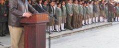 Conmemora Ayuntamiento de Tlaxiaco Día de la Bandera con la comunidad estudiantil