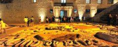 Instalaron monumentales tapetes de arena en Oaxaca