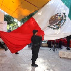 Denuncia ayuntamiento formalmente a antorchistas por ofender lábaros patrios