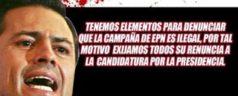 Promueven cancelar candidatura de Peña Nieto ante el IFE