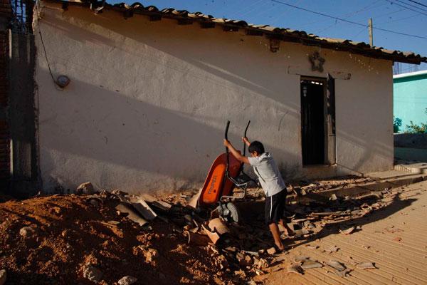Sin atención, más de 7 mil afectados por sismo en Tlaxiaco