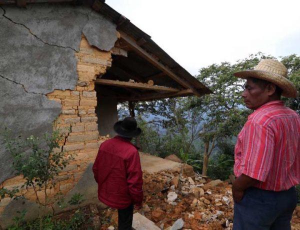 Al menos 708 viviendas afectadas en los Mixes, Oaxaca